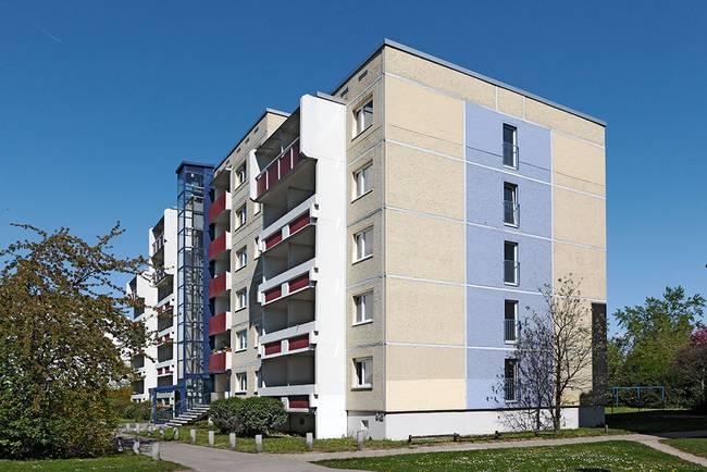 Giebel: 1-Raum-Wohnung Weißenfelser Straße 49