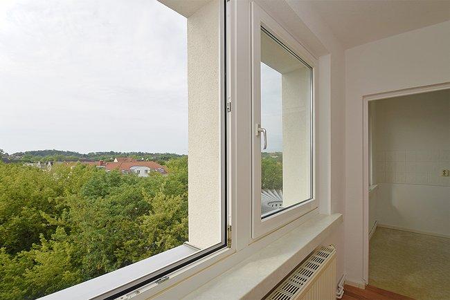 Ausblick: 2-Raum-Wohnung Plutostraße 4