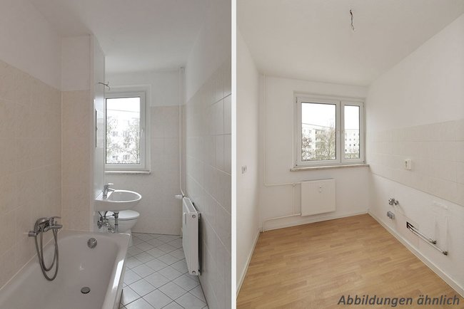 Bad/Küche: 2-Raum-Wohnung Brüsseler Straße 12